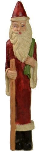 Holiday | Christmas Pencil Santa Claus with Walking Stick Figurine