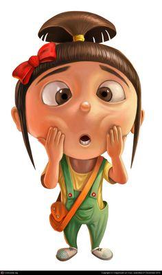 A cute little girl by Lockheed jun mao Cartoon Pics, Cartoon Art, Cute Cartoon, Cute Disney Wallpaper, Cartoon Wallpaper, Cute Little Girls, Cute Kids, Minions Movie Characters, Agnes Despicable Me