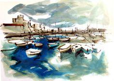 100x70 cm ©2014 por  Jordi Serrat Jurado Painting, Shopping, Impressionism, Artworks, Artists, Painting Art, Paintings, Painted Canvas, Drawings