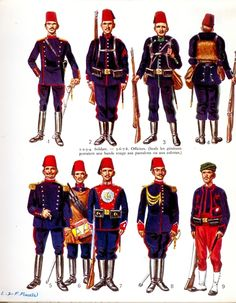 Ottoman Empire Military Uniforms 19th Century