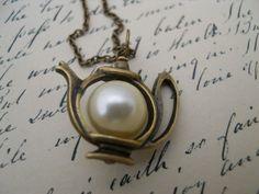 Time For Tea NecklaceAlice In Wonderland by RefinedRubbishLLC, $16.00