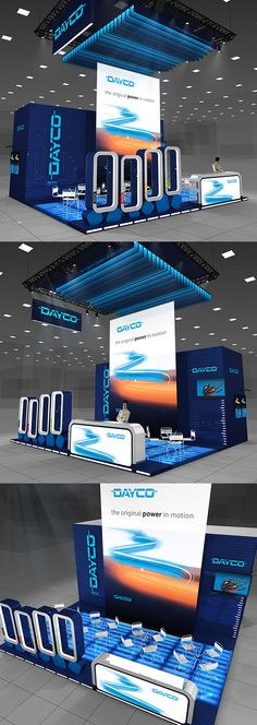 DAYCO exhibition stand on Behance