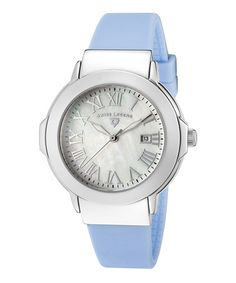 Take a look at this Baby Blue Pearl South Beach Watch - Women by Swiss Legend on #zulily today!