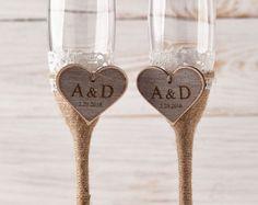 Boda Madrina de copas de Champagne y novios brindis copas boda flautas flautas de champán Señor Señora personalizado boda regalo gafas de compromiso