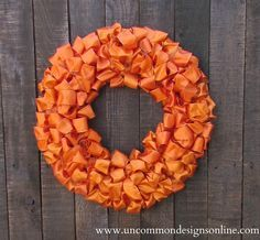 DIY - TUTORIAL - Ribbon Wreath. A different kind of ribbon wreath.