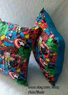 On Sale Avengers Pillow, Marvel Avenger Pillow, Red or Blue Back, Marvel… Marvel Bedroom, Avengers Bedroom, Marvel Nursery, Avengers Bedding, Toddler And Baby Room, Superhero Room, Pink Pillows, Christmas Pillow, How To Make Pillows