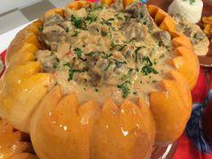 Receitas famosas: Strogonoff de carne de sol na moranga