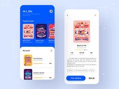 Magazine reading mobile App by C_Clin Good Music Apps, Web Design Mobile, Iphone App Design, App Design Inspiration, Mobile App Ui, Mobile Application, Layout, Ios App, Magazine