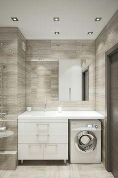 New bathroom tiles modern laundry rooms ideas Luxury Bathroom Tiles, Best Bathroom Tiles, Bathroom Interior, Small Remodel, White Bathroom Accessories, Bathroom Design Small, Yellow Bathrooms, Laundry Room Lighting, Modern Laundry Rooms