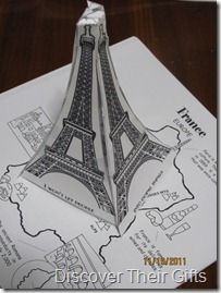 Eiffel Tower paper craft, Paper dolls with flags, Eiffel Tower Diversity Activities, French Days, French Crafts, Science Week, Geography Lessons, France Flag, Five In A Row, World Thinking Day, My Father's World