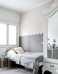 Wand Streichen Muster Ideen Kinderzimmer Skandinavisch Muschel