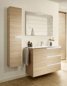Mueble de baño Roca Family con 3 cajones Bathroom Store, Bathroom Closet, Bathroom Sink Vanity, Small Bathroom, House Front Design, Modern House Design, Bad Inspiration, Bathroom Inspiration, Scandinavian Fireplace