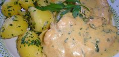tejszinescsirke Mashed Potatoes, Eggs, Favorite Recipes, Chicken, Meat, Vegetables, Breakfast, Ethnic Recipes, Food