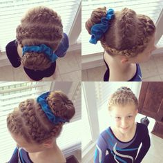 Gymnastic Meet Hairstyles Once A Gymnast Always A