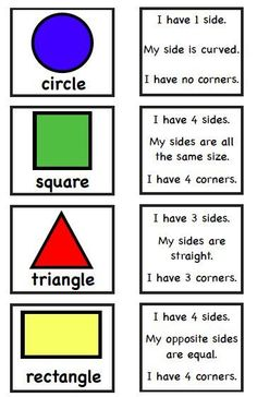 A great activity for teaching students about how many sides, corners or curves an object has.