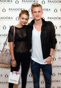 Singer Cody Simpson and his girlfriend Model Gigi Hadid #PANDORAcelebrity