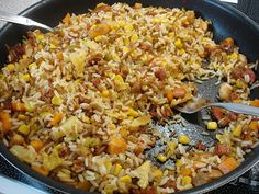 Fried Rice, Fries, Food And Drink, Chinese, Yummy Food, Cooking, Ethnic Recipes, Decor, Kitchen