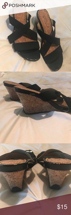 REACTION Slide On Cork Wedge Sandals NWOT REACTION Slide On Cork Wedge Sandals NWOT REACTION Shoes Sandals