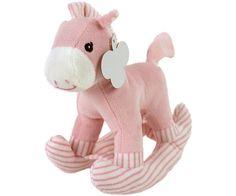Pluche hobbelpaard roze, zeer geschikt voor luiertaarten