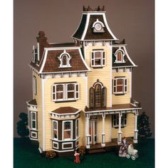 Imagine and play for hours on end with this elegant dollhouse kit. The Beacon's charming dollhouse kit offers both a fun craft and a beautiful keepsake as it comes ready to assemble with easy tab-and-