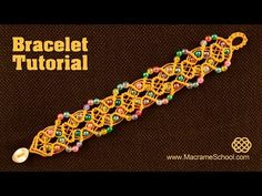 Beaded Macrame Fall Bracelet Tutorial. Please watch more Macramé bracelets with beads in jewelry playlist: http://goo.gl/b4iPao Here you have a lot of choice...