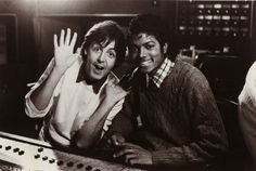 Paul McCartney and Michael Jackson in the early 1980s where they made two duets together. (Photo: Bulls)