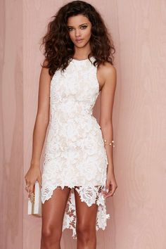 Keepsake I Will Wait Lace Dress