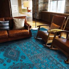 Bobohemian Tribe 8906 Blue Lagoon Rug - Free UK Delivery - The Rug Seller