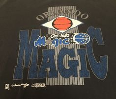 Vintage Orlando Magic Black X-Large Short Sleeve Tee T-Shirt XL Made In USA #Swingster #OrlandoMagic