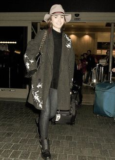 Lily Collins at LAX airport (January 9th, 2015)