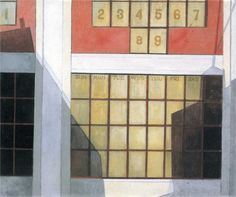 Charles Demuth (American 1883–1935) [Precisionism] Business, 1921.