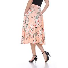 OpenSky Midi Flare Skirt, Flared Skirt, Midi Skirt With Pockets, Street Style Women, High Waisted Skirt, Casual Summer, Outfits, Clothes, Walmart