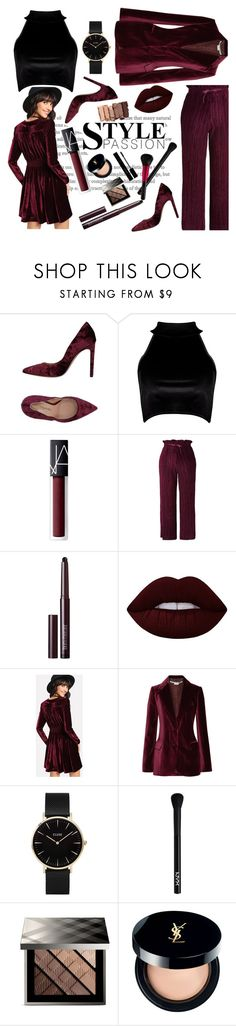 """""""Maroon Velvet"""" by malrocs-polyvore ❤ liked on Polyvore featuring Marco Barbabella, Boohoo, NARS Cosmetics, Topshop, Laura Mercier, Urban Decay, Lime Crime, STELLA McCARTNEY, CLUSE and NYX"""
