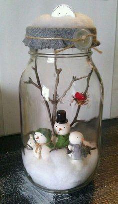 Creative DIY Snow Globe Mason Jars Ideas 16