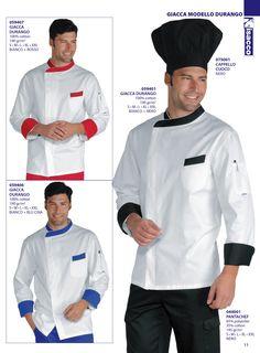Chaqueta cocina señora y caballero Chef isacco 2016
