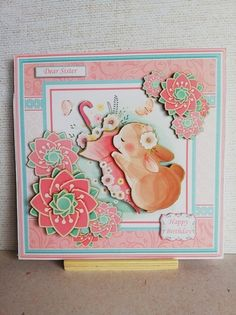 Dear Sister, Easel Cards, Small Cards, Get Well Cards, Card Kit, Cute Cards, Happy Easter, Decoupage, Card Making