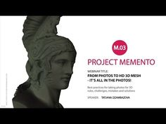 Autodesk Memento Webinar #3 - It's all in the Photos - YouTube