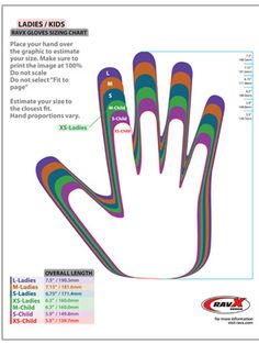 Glove sizing chart-Children's and Women's Crochet Applique Patterns Free, Crochet Mittens Pattern, Fingerless Gloves Crochet Pattern, Crochet Chart, Knitted Gloves, Knit Crochet, Beginner Crochet Tutorial, Crochet Basics, Knitting Stitches
