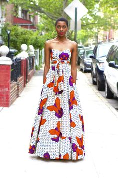 I love African fashion.