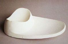 isamu noguchi: untitled study for a saucer, 1955-65, plaster, collection of the estate of isamu noguchi