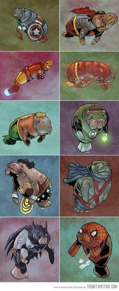 Manatees as super heroes…