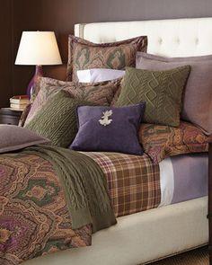 -64ZB Ralph Lauren  Full/Queen Westport Comforter King Westport Comforter King Fairview Flat Sheet