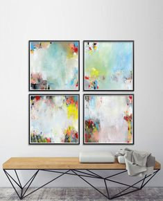 Abstract Painting. Set of Four GICLEE PRINTS 8x8. Blue Aqua pink white. Modern painting, nursery art, express shipping Title: Expanding Time 02 Colorful Inside Expanding Time Just Above The Clouds Sizes: 8x8 inches (20x20 cm) 12x12 inches (30x30 cm) 16x16 inches (40x40 cm) You may