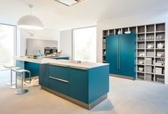 Stunning Blue German Kitchen.