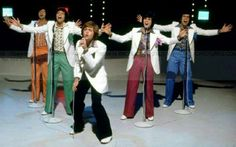 """The Osmonds performing """"Love Me For A Reason"""" at the BBC TV Studios, Shepherds Bush, London, England in August, 1974 during their UK Tour."""