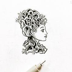 Raíces #artofday #inspire #illustration #emotion #relax #vida #life #oldblackbamboo