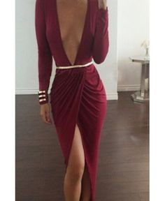 Shop The Look Deep red belted dress Sexy Dresses, Club Dresses, Cheap Dresses, Fashion Dresses, Evening Dresses, Dresses 2016, Spring Dresses, Fashion Styles, Fashion Trends