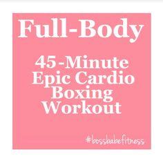 45-Minute Epic Cardio Boxing Workout ---> https://www.youtube.com/watch?v=lujcE3FGL_U&list=PLkQBCctMdS_Ui-lQuHp_vyYbaAScsPdVp&index=31