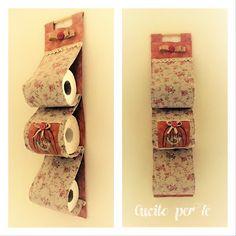 CUCITO per TE : Porta rotoli: stessa stoffa per tre modelli.