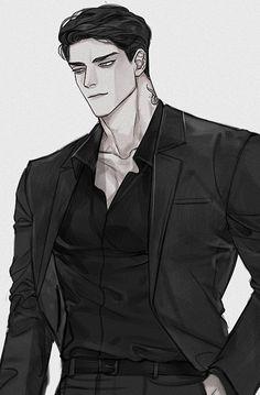 청운 @02AM_02 Dark Anime Guys, Hot Anime Boy, Cute Anime Guys, Character Inspiration, Character Art, Character Design, Animes Emo, Anime Sisters, Funny Doodles